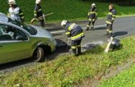 Einsatz 19.09.2020 - T03 Verkehrsunfall, Ölbindearbeiten