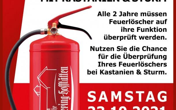 Feuerlöscher Überprüfung am 23.10.2021 beim Rüsthaus